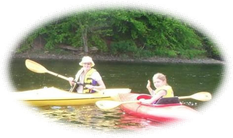 Kayaking on the Salmon River Resevoir, Ny.